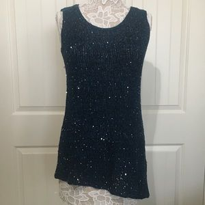 Soft Surroundings Asymmetrical Sequin Knitted Tank